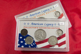 SET OF 2 AMERICAN LEGACY COLLECTION - $ 1.75 FACE VALUE SILVER