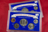 SET OF 2 AMERICANA SERIES - $ 1.70 FACE VALUE SILVER