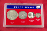 US SILVER PEACE SERIES $1.85 FACE VALUE IN PEACE DOLLAR