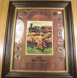 THE WAY WEST COLLECTION IN FRAME WITH 14 BUFFALO NICKELS