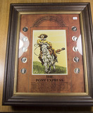 THE PONEY EXPRESS COLLECTION IN FRAME WITH 10 MERCURY DIMES