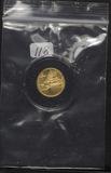 1991 1/10 OZ GOLD $5 AMERICAN EAGLE