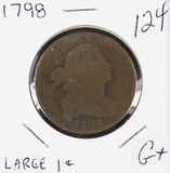 1798 - DRAPED BUST LARGE CENT - G+