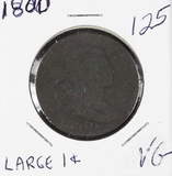 1800 - DRAPED BUST LARGE CENT - VG