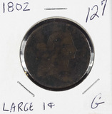 1802 - DRAPED BUST LARGE CENT - G