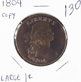 1804 (Copy) - DRAPED BUST LARGE CENT - PROOF