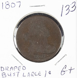 1807 - DRAPED BUST LARGE CENT - G+