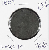 1809 - CLASSIC HEAD LARGE CENT - VG/G