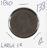 1810 OVER Q - CLASSIC HEAD LARGE CENT - G