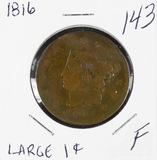 1816 - MATRON HEAD LARGE CENT - F