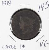 1818 - MATRON HEAD LARGE CENT - VG