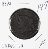 1819 LARGE DATE - MATRON HEAD LARGE CENT - F