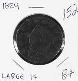 1824 - MATRON HEAD LARGE CENT - G+