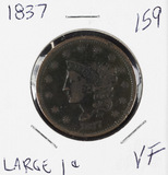 1837 - MATRON HEAD MODIFIED LARGE CENT - VF