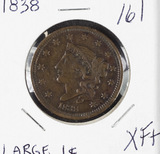 1838 - MATRON HEAD MODIFIED LARGE CENT - XF