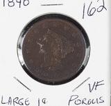 1840 - BRAIDED HAIR LARGE CENT - VF POROUS