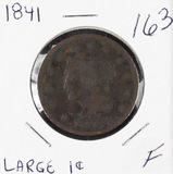 1841 - BRAIDED HAIR LARGE CENT - F