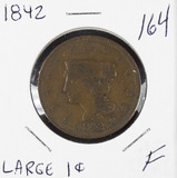 1842 - BRAIDED HAIR LARGE CENT - F