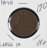 1848 - BRAIDED HAIR LARGE CENT -VF+