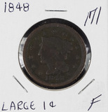 1848 - BRAIDED HAIR LARGE CENT -F