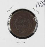 1849 - BRAIDED HAIR LARGE CENT -VF+