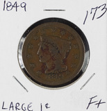 1849 - BRAIDED HAIR LARGE CENT - F+