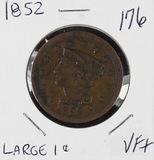 1852 - BRAIDED HAIR LARGE CENT - VF+