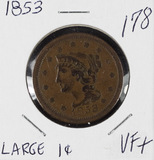 1853 - BRAIDED HAIR LARGE CENT - VF+