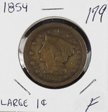 1854 - BRAIDED HAIR LARGE CENT - F
