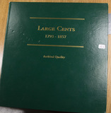 LITTLETON CUSTOM LARGE CENT ALBUM - NO COINS