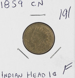 1859 CN - INDIAN HEAD CENT - F