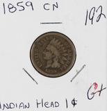 1859 CN - INDIAN HEAD CENT - G+