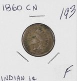 1860 CN - INDIAN HEAD CENT - F