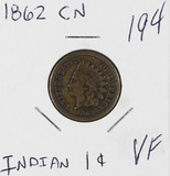 1862 CN - INDIAN HEAD CENT - VF