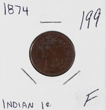 1874 - INDIAN HEAD CENT - F