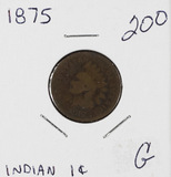 1875 - INDIAN HEAD CENT - G