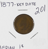 1877 - INDIAN HEAD CENT - G KEY