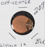 90 % OFF CENTER STRUCK LINCOLN CENT - BU