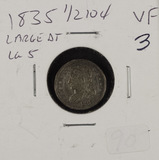 1835 - CAPPED BUST HALF DIME - VF