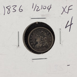1836 - CAPPED BUST HALF DIME - XF