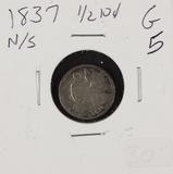1837 - LIBERTY SEATED HALF DIME - G