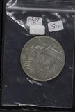 1927-D PEACE DOLLAR - VF+
