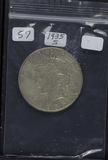1935-S PEACE DOLLAR - AU