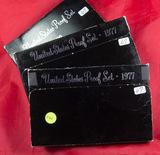 LOT OF 3 PROOF SETS (2) 1977 - (1) 1980