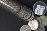1 - ROLL (50 COINS)TEENS AND TWENTIES MERCURY DIMES