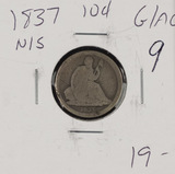 1837 - NO STARS LIBERTY SEATED DIME G/AG