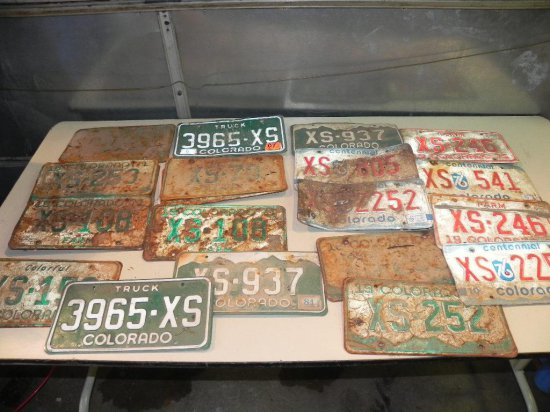 Large Colorado license plate collection