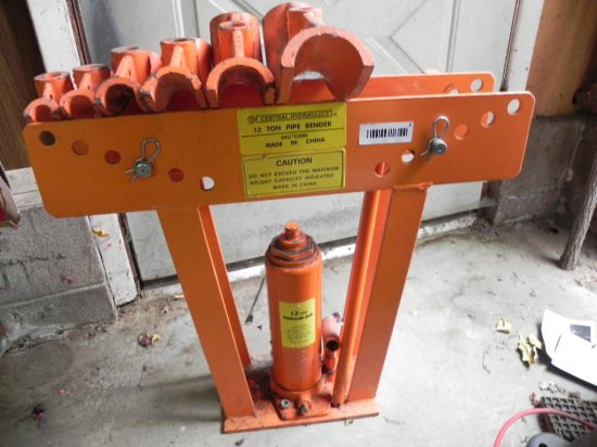 Central hydrolics 12 ton pipe bender