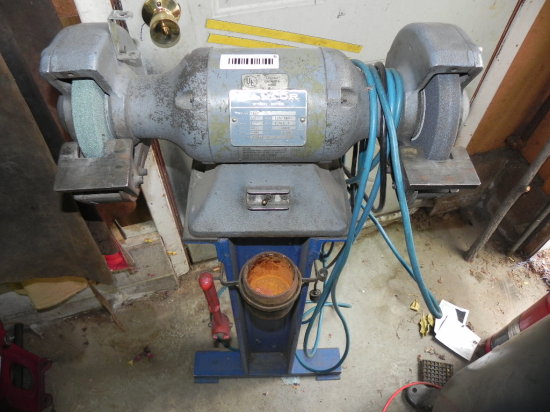 Baldor 1/2 HP grinder on cast iron stand