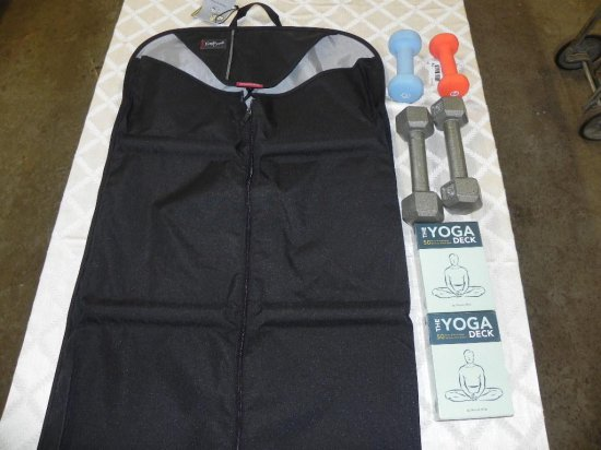 New Eagle creek garment bag and 2 new the yoga deck's by Olivia Miller